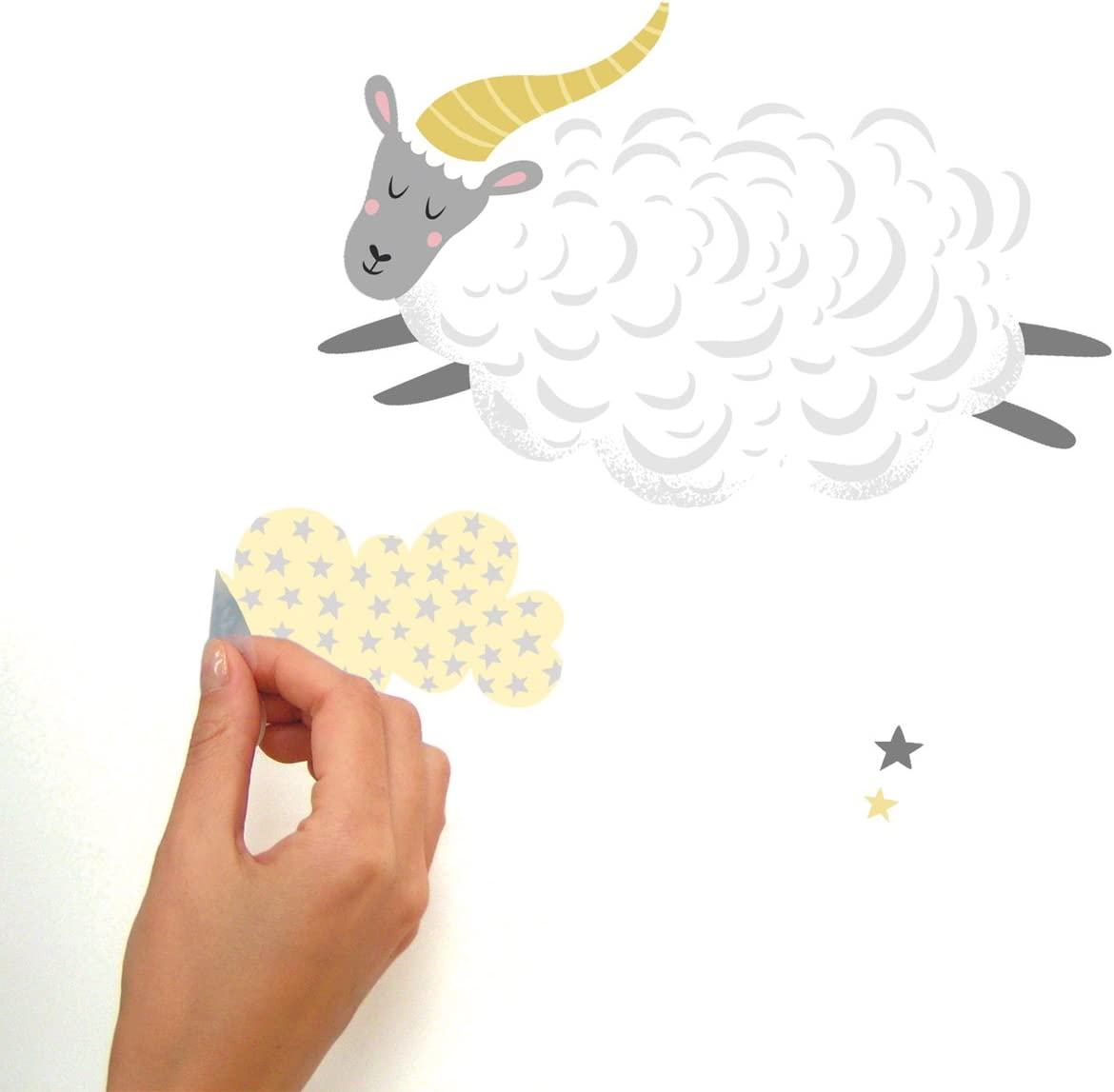 5 sizes available Counting Sheep Number Wall Stickers