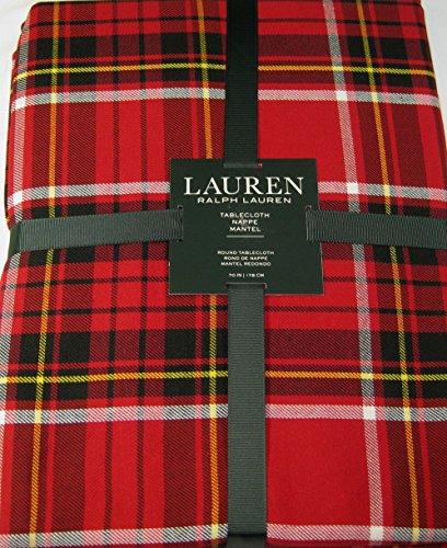 Ralph Lauren Gretchen Tartan Plaid Tablecloth Red 70 - Tartan Ralph Lauren