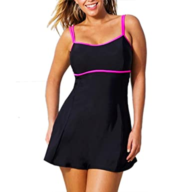853b97ebbd Image Unavailable. Image not available for. Color: Women one Piece Swimsuit  Plus Size Dress Large Bust Bikinis ...