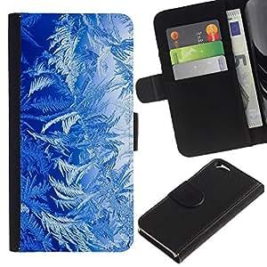 "Apple (4.7 inches!!!) iPhone 6 , la tarjeta de Crédito Slots PU Funda de cuero Monedero caso cubierta de piel ("" Blue Nature Forest Plants Life Art Wallpaper"")"