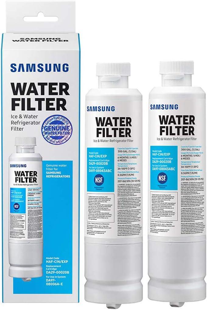 2 Pack Samsung DA29-00020B Refrigerator Water Filter