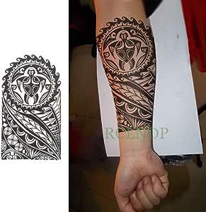 4pcs Impermeable Etiqueta engomada del Tatuaje Tribal Fresco Totem ...