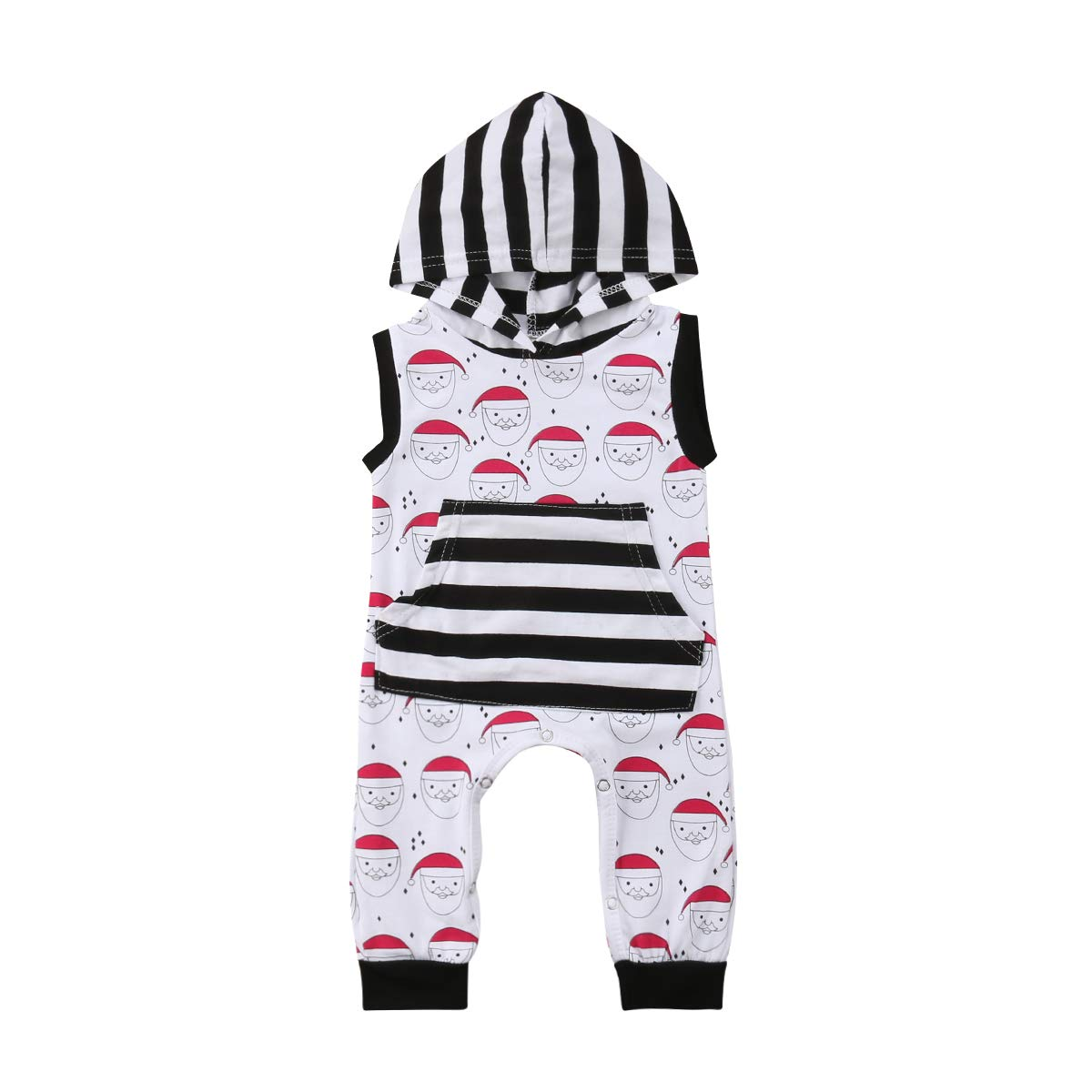 Bowanadacles Christmas Newborn Infant Baby Boys Girls Outfit Hooded ...
