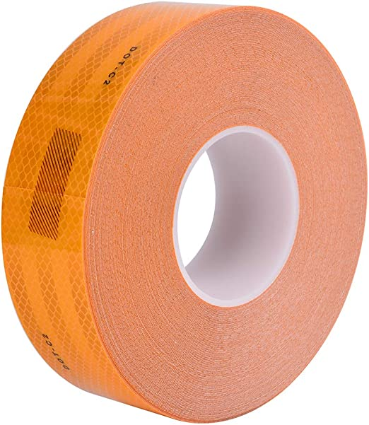 "Reflective Conspicuity Tape 2/""x150/' Safety Warning Sign Car Truck RV Boat Orange"