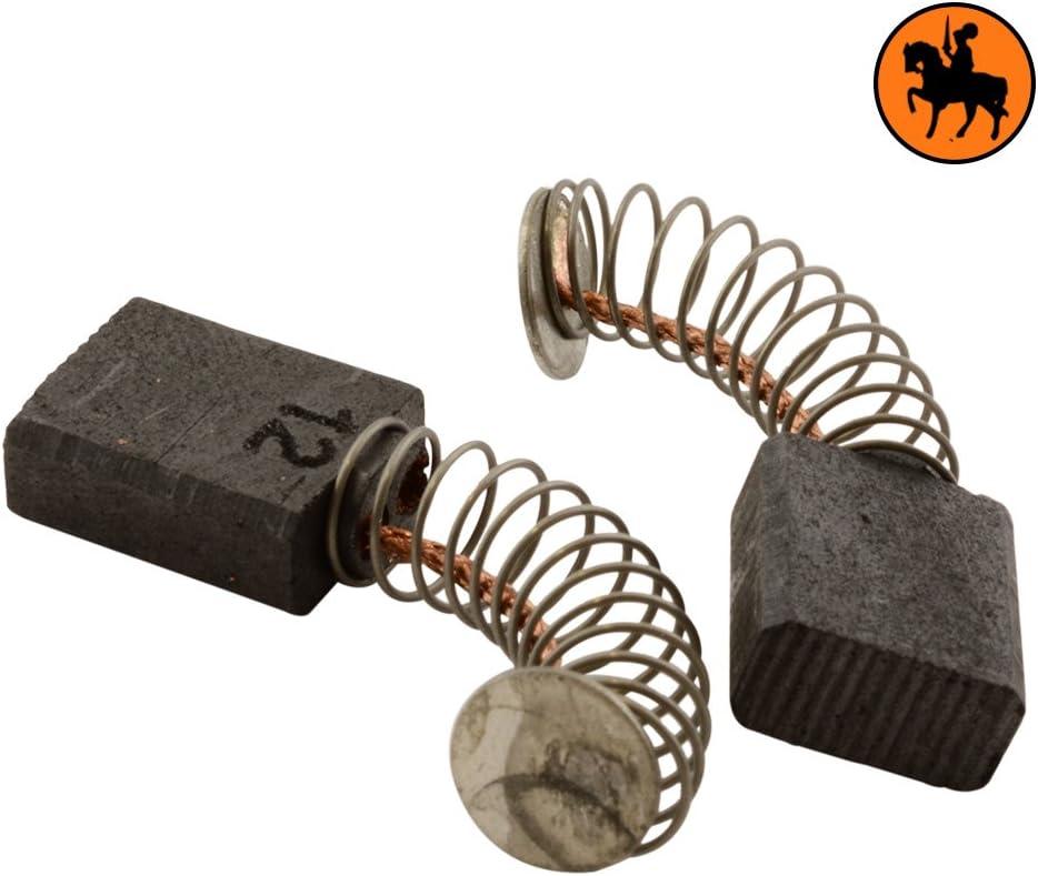 Balais de Charbon METABO SBE 521//2 SR+L 5x10x12,5 mm Une paire de brosses de charbon de haute qualit/é Avec arr/êt automatique