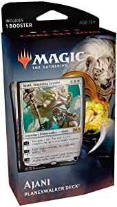 Magic The Gathering: MTG: Core Set 2020 Planeswalker Deck - Ajani w/Booster Pack (White)