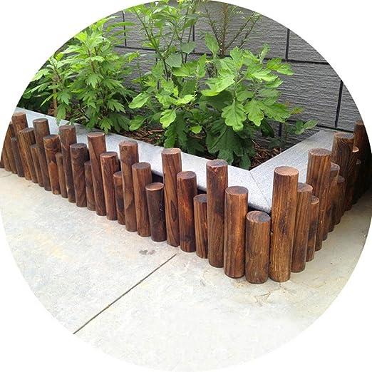 ZENGAI-vallas de Madera for Exteriores Durable Jardin Resistente A La Intemperie Valla Pequeña Barandilla Cortar Antiséptico Longitud 90cm (Size : 90cmx25/30/35cm): Amazon.es: Jardín