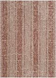 Safavieh Courtyard Collection CY8736-36512 Light Beige and Terracotta Indoor Outdoor Area Rug (8′ x 11′)