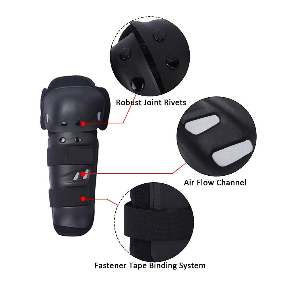 Docooler - Par de rodilleras para moto racing, protectores de rodilla con panles y cintas: Amazon.es: Deportes y aire libre