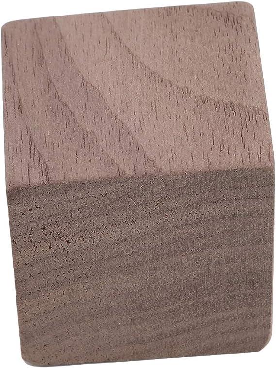 KISSFRIDAY花形の木材エッセンシャルオイルディフューザーミニマリストアロマセラピーエッセンシャルオイルディフューザー 黒クルミ四角