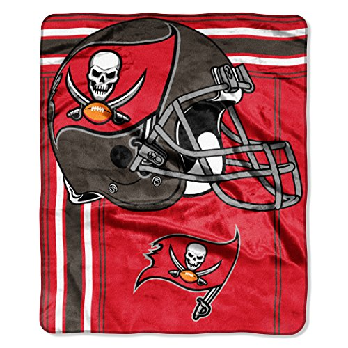 The Northwest Company NFL Tampa Bay Buccaneers Touchback Plush Raschel Throw, 50