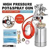 VEVOR Paint Tank 2L / 0.5 Gallon Paint Pressure Pot Tank 2.0mm Nozzle Regulator Pressure Pot Paint Sprayer (2L 2.0mm)