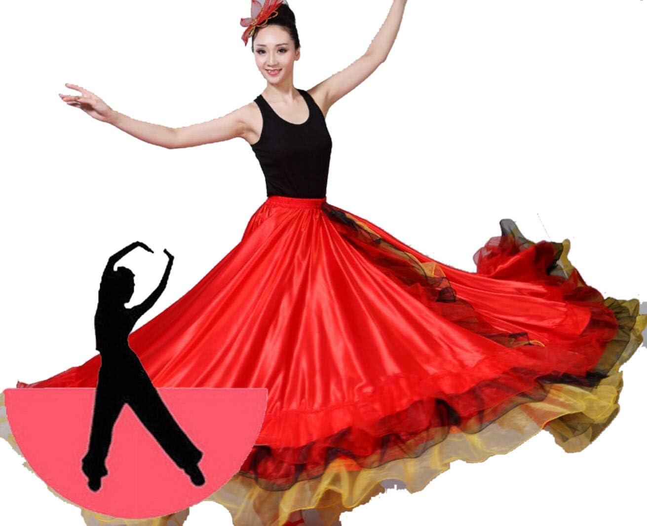 SMACO Faldas de Flamenco españolas Trajes de Baile de Flamenco ...