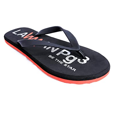 eca37759737e LAWMAN PG3 Men s Colaba Official Black Thong Flip Flop Size (6-10)  Buy  Online at Low Prices in India - Amazon.in