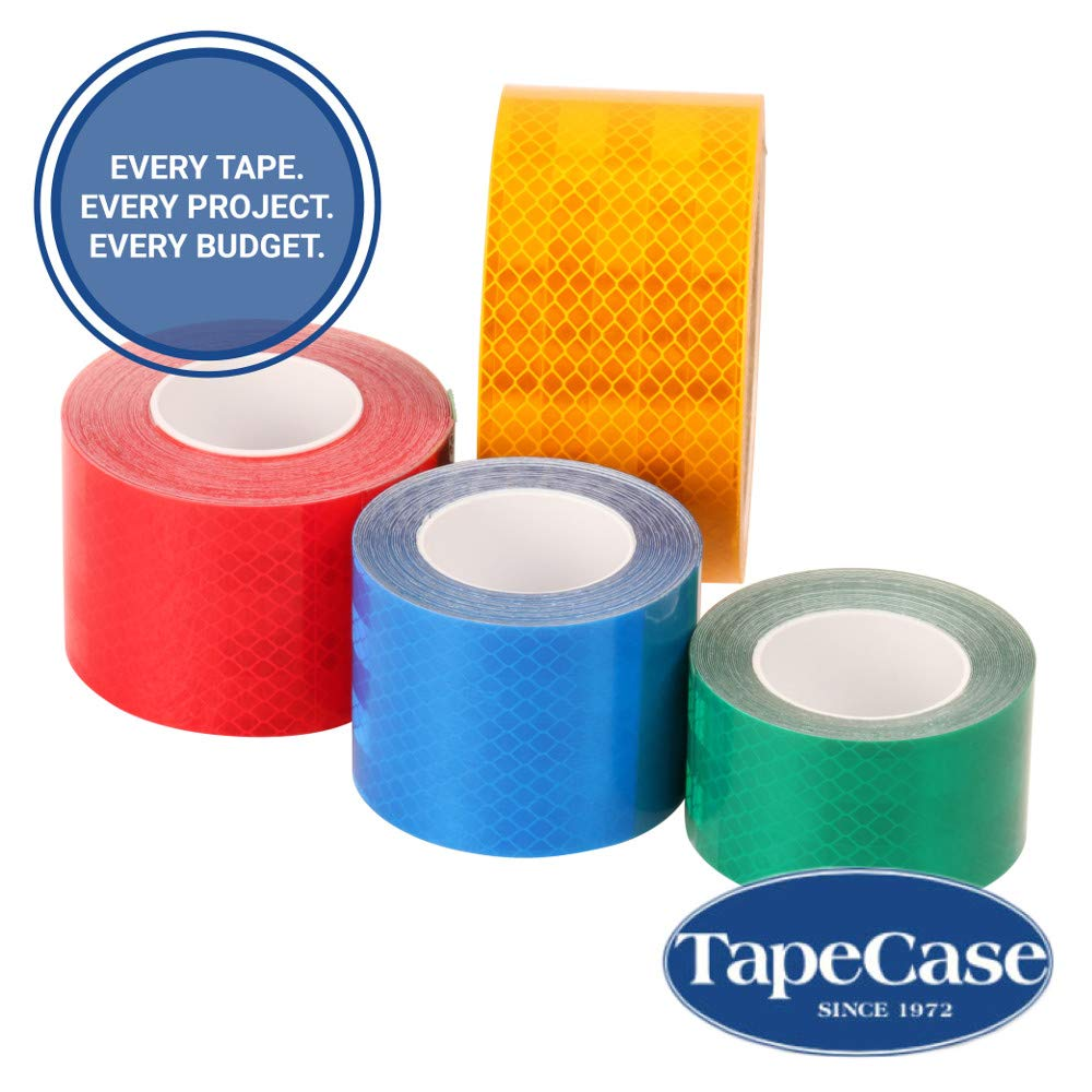 TapeCase 3432 0.5in X 5yd Red Reflective Tape 1 Roll New