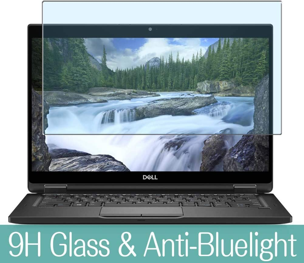 """Synvy Anti Blue Light Tempered Glass Screen Protector Compatible with Dell Latitude 13 7000 (7389) 2-in-1 13.3"""" Visible Area 9H Protective Screen Film Protectors"""