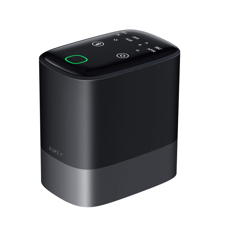 AUKEY Bluetooth 5.0 Trasmettitore Ricevitore 2-in-1