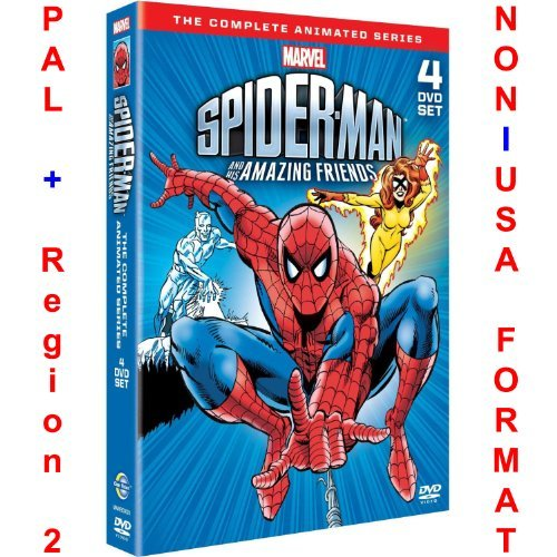 Firestar Series - Spider-Man & His Amazing Friends Complete Season 1+2+3 Collection [NON-U.S.A. FORMAT: PAL + REGION 2 + U.K. IMPORT] by NON-U.S.A. FORMAT: PAL + Region 2 + U.K. Import