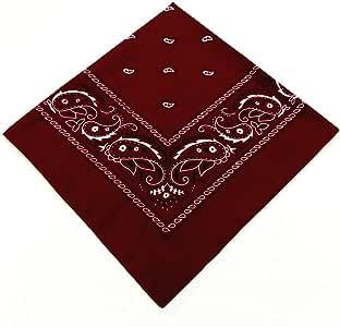 N\A Multifunción Moda Pañuelo 100% algodón Respirable cómodo el pañuelo for Hombres y Mujeres de la Personalidad de Hip Hop Roca Accesorios Pañuelos (Color : Wine Red): Amazon.es: Hogar