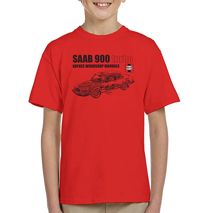 POD66 Haynes Workshop Manual 0765 Saab 900 Turbo Black Kids T-Shirt