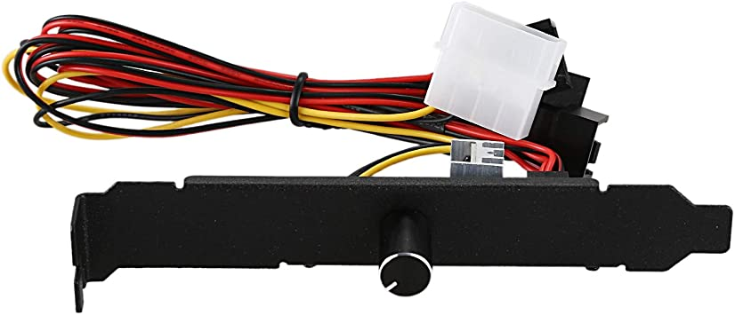 12V 3Pin PC Cooling Fan Speed Controller For PC CPU Fan Speed Control 3-Speed Ad
