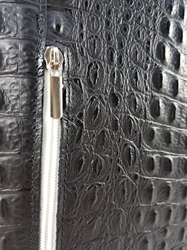 au Kroko Weiß in FreyFashion main Made à dos Sac Italy pour Schwarz femme porté P0wBCBnqfR
