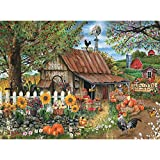 Bits and Pieces - 500 Piece Jigsaw Puzzle for Adults - Bountiful Meadows Farm - 500 pc Pumpkin Harvest Jigsaw by Artist Thomas Wood