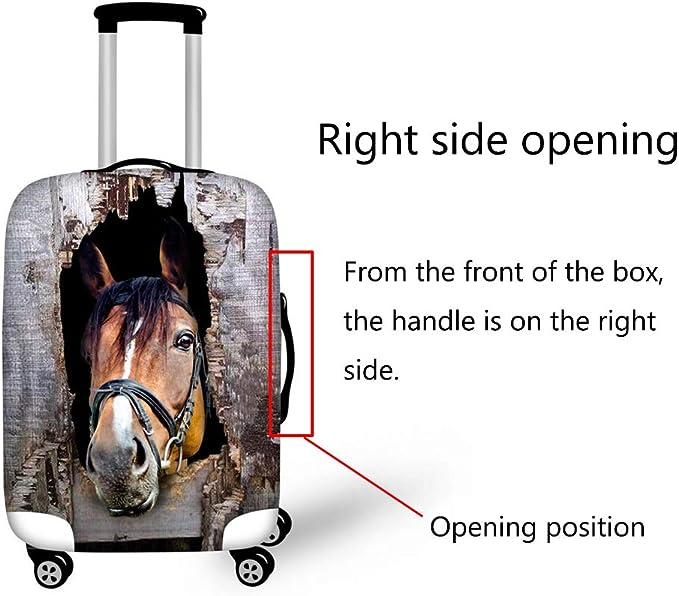 Luggage cover Housse de Valise Personnalis/é T/ête De Cheval Conception /Élastique Polyester Antipoussi/ère /Épais Wearable Fit 18//24//28 Pouce Valise,5,L