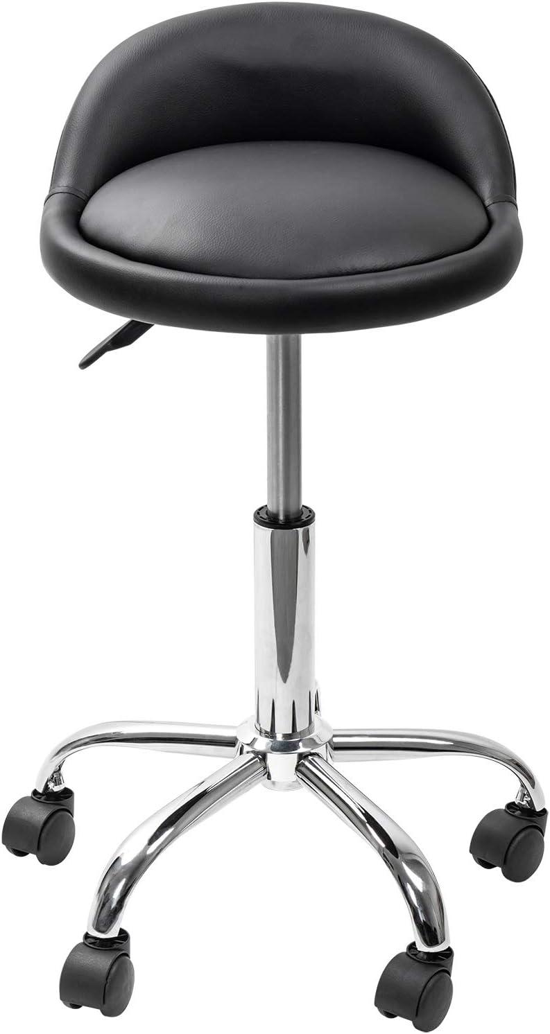 Grandma Shark Massageschemel Beauty Therapy Reiki Salon Manik/üre Tattoo Hocker Stuhl mit 5 R/ädern Hydrauliklift /& mit R/ückenlehne /& drehbar