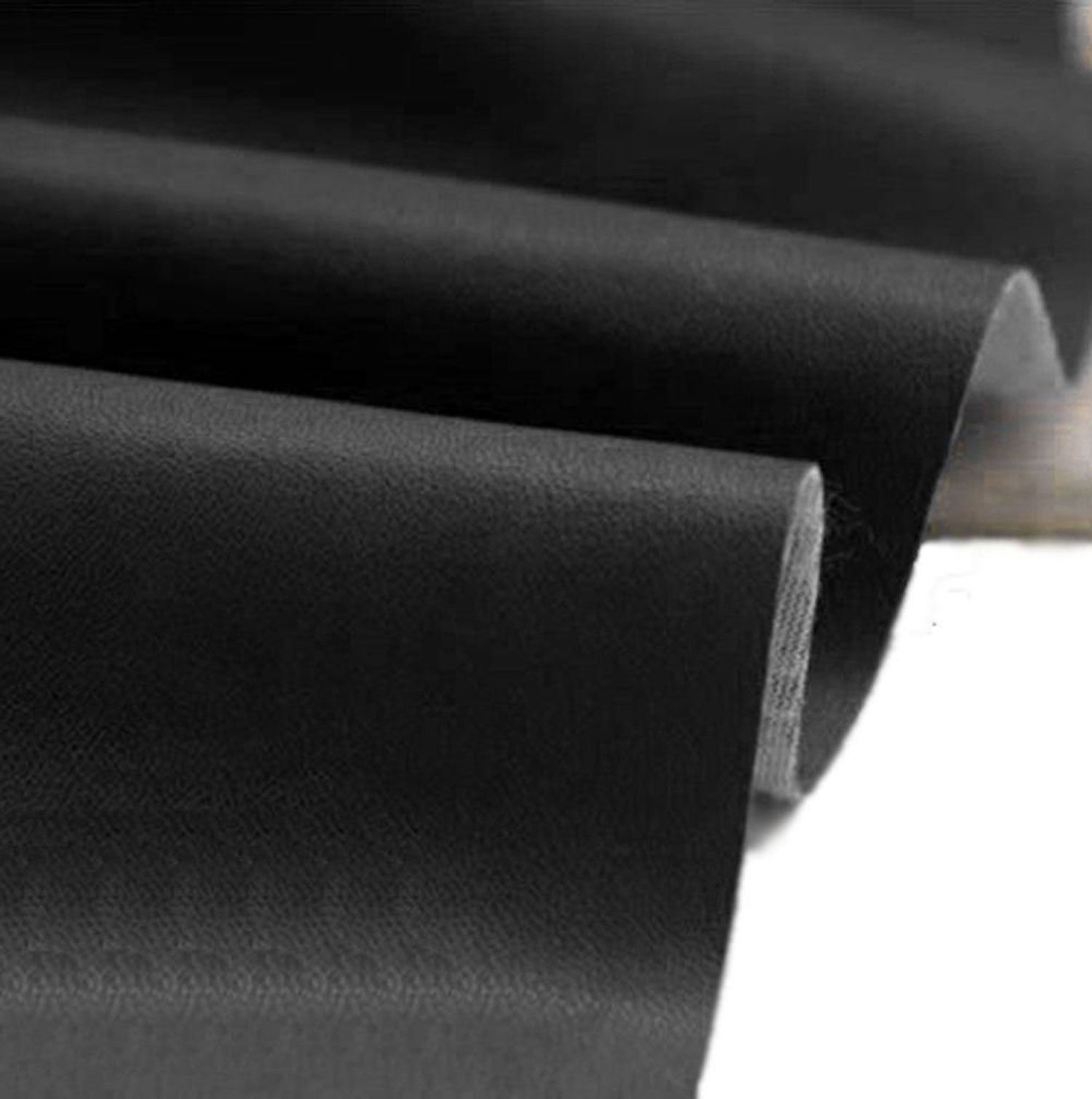 54'' Wide Black Fabric FAUX LEATHER LEATHERETTE MATERIAL HEAVY FEEL PVC VINYL UPHOLSTERY Fabric by The Yard