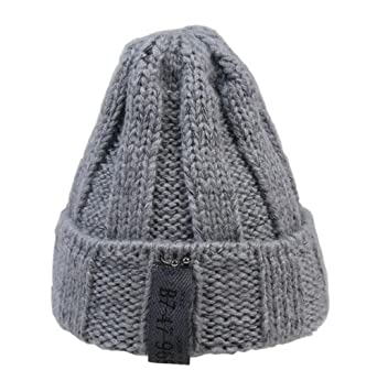 Image Unavailable. Image not available for. Color  ZEHAT New Gray Pure Handmade  Knitted Wool Hat Girls Women Caps Winter Warm Headwrap accessories 053f045315d5