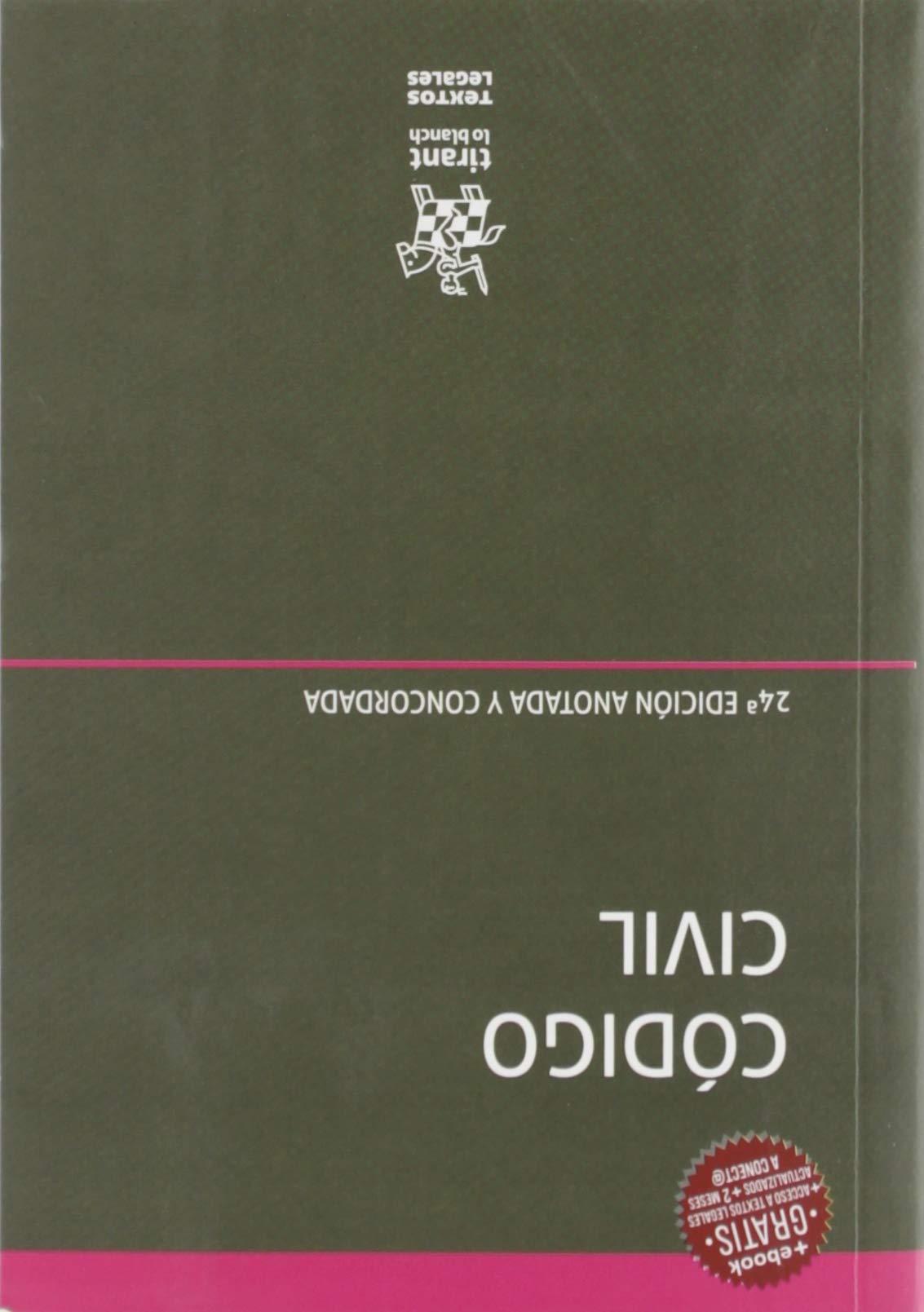 Código Civil 24ª edición 2019 Anotada y Concordada Textos Legales: Amazon.es: Blasco Gascó, Francisco de P.: Libros