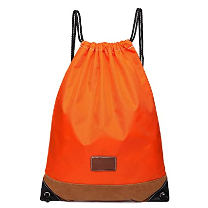 Kono- Mochila impermeable con cordones. , 6645 Orange