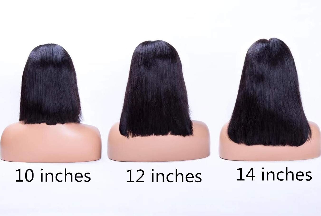 LIAZAHAIR 13x6 Deep Part Short Bob Lace Front Wigs Human Hair Pre Plucked Full End 150% Density Brazilian Straight Bob Wigs With Baby Hair For Women (12 inches, Natural color)