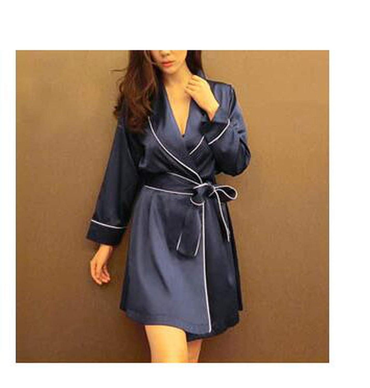 Women Silk Dresses for Women Pijamas Batas De Seda Bathrobe Kimono ...