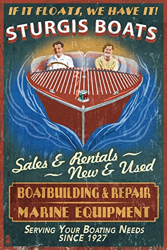 Sturgis, Michigan - Wooden Boats - Vintage