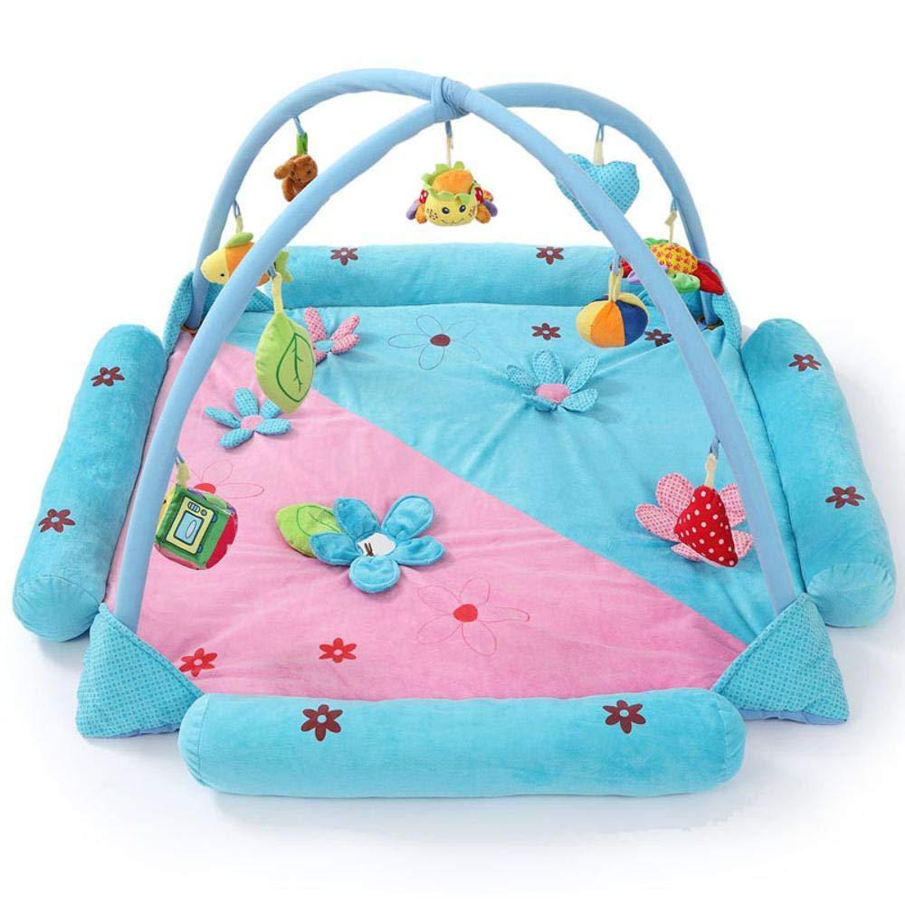 Tcaijing Kinderteppiche Baby Krabbeldecke,Blume Form Baby Spiel Decke Baby Crawl Kissen Mat Musik Fitness Halterung Baby pädagogische Spielzeug 0-2 Jahre alt