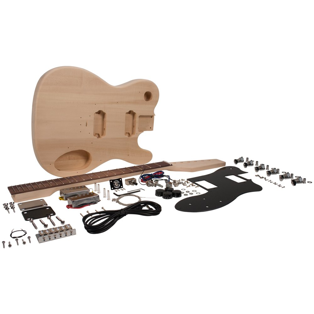 Seismic Audio - SADIYG-04 - Premium DIY Tele Style Electric Guitar Kit - Dual Humbuckers Luthier Project Kit