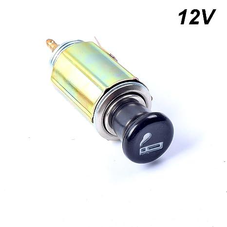 ekylin dc 12v car auto cigarette lighter replacement plug \u0026 socket assembly set  led strip to 12 volt car battery