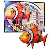 Flying Shark Air Swimmers Best Deals - William Mark 6791 Air Swimmers Remote Control Clownfish with Extra Balloon Plus Batteries