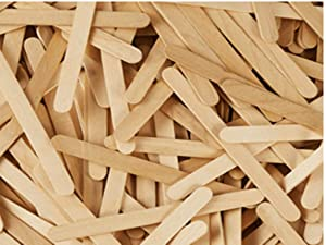 Swity home Popsicle Sticks Wooden Tongue Depressor Food Grade Ice Cream Sticks Natural Wooden Sticks Jumbo Wood Craft Sticks for DIY Projects Creative Designs 6 inch 100pcs (Natural Wood Color)