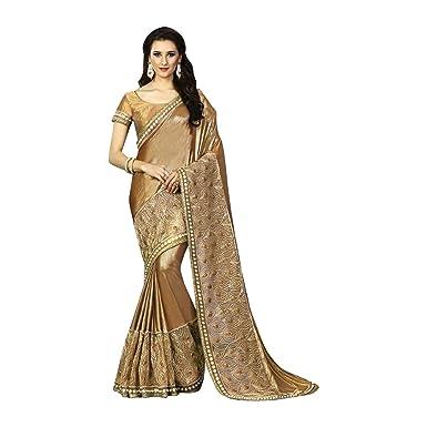 171b001756a Amazon.com  BRIDAL HEAVY BOLLYWOOD DESIGNER SAREE SARI WEDDING CEREMONY PARTY  WEAR INDIAN MUSLIM WOMEN  Clothing
