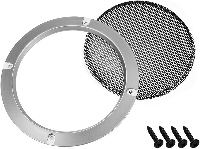uxcell 2pcs 3 inches Speaker Grill Mesh Decorative Circle Woofer Guard Protector Cover Audio Accessories Silver