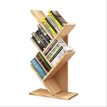 5 Shelf Tree Bookshelf For KidsCompact Book Rack BookcaseDisplay Storage Furniture