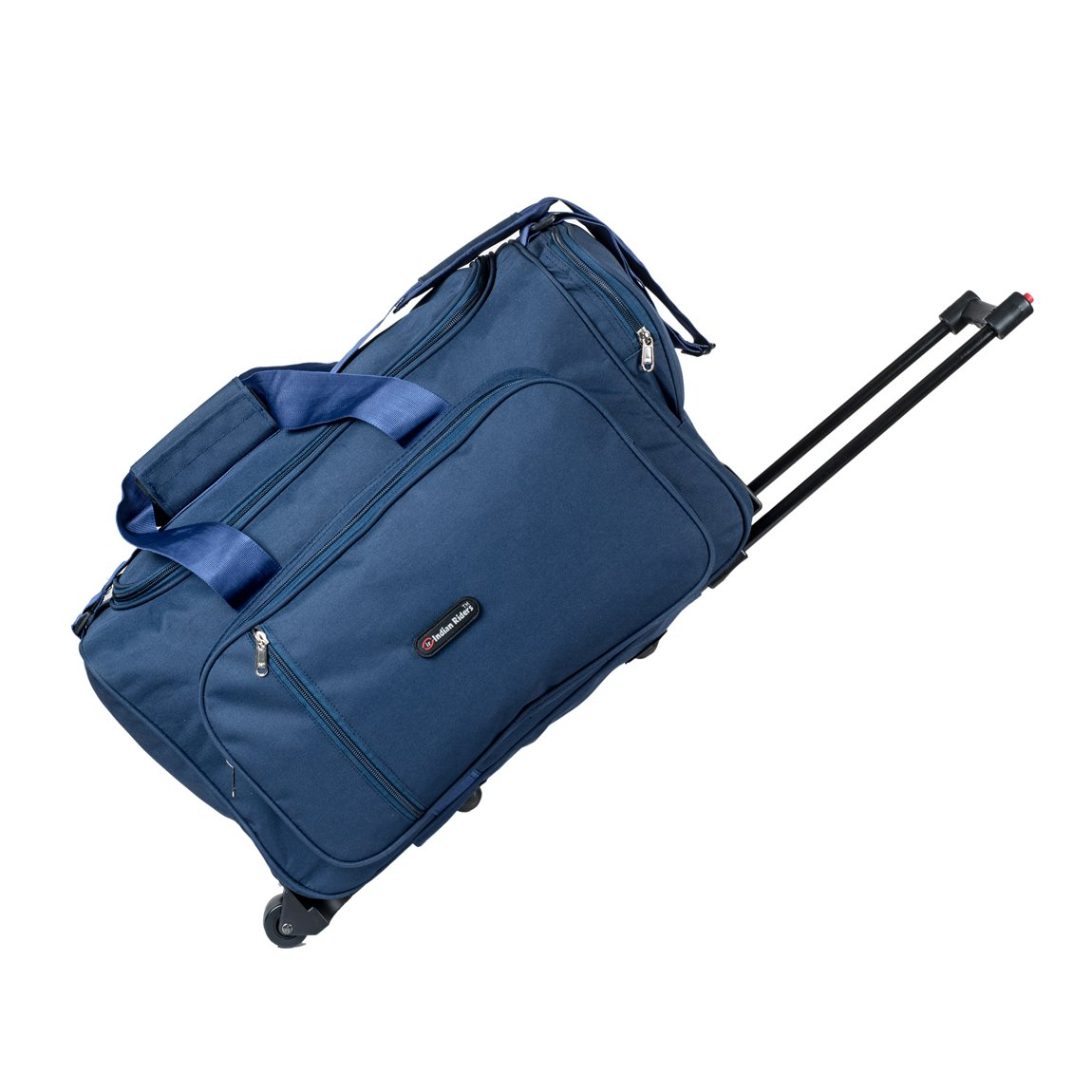 Indian Riders Nylon and Fabric Navy Blue Trolley Bag