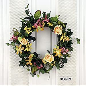 Yellow Roses Spring Wreath 35