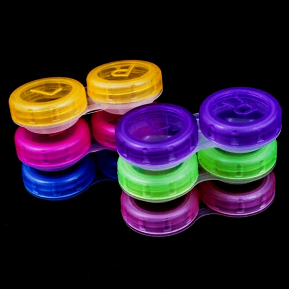 R segnato lenti a contatto custodia perfetto per casa e viaggi colore casuale Set contenitori per lenti a contatto ammollo casi l