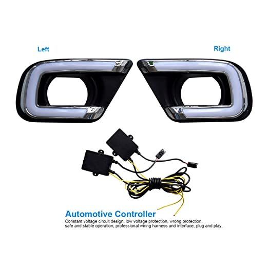 Amazon For Dodge Journey 20132016 Led Drl Replacement Update Rhamazon: Car Fog Light Wiring Harness At Elf-jo.com