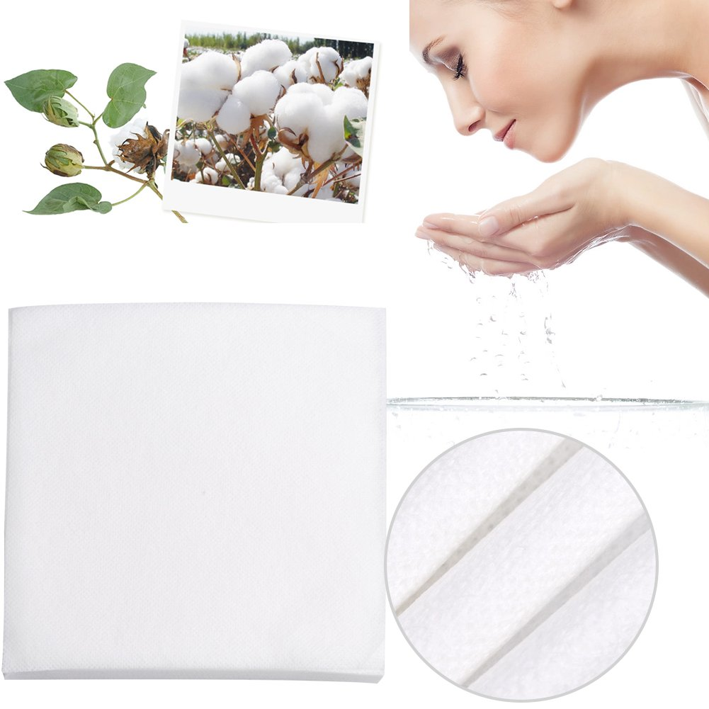 Disposable Cotton Towel Pad, 60Pcs/Bag Disposable Cotton Soft Towel Makeup Facial Cleansing Pads Cosmetic Removal Tool Brrnoo
