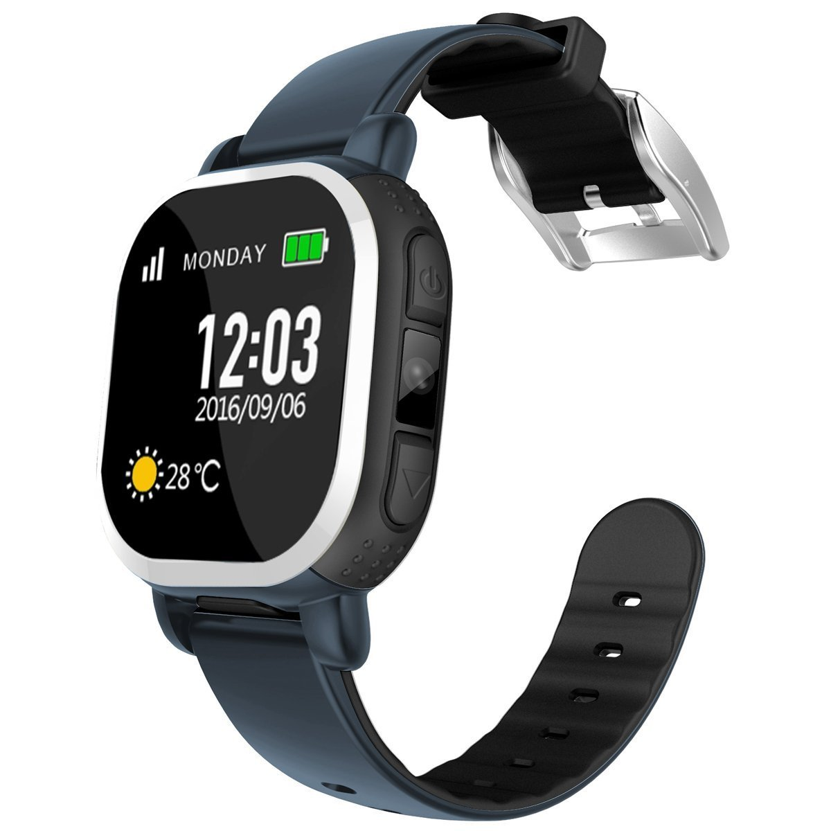 Tencent Qq Watch Gps Safe For Children Android Ios Kids Smart Watch Girls Boys Security Watch With Camera Sim Calls Anti Lost Sos Locator Activity Tracker Smart Bracelet For Girls Boys Pq708 Deepblue